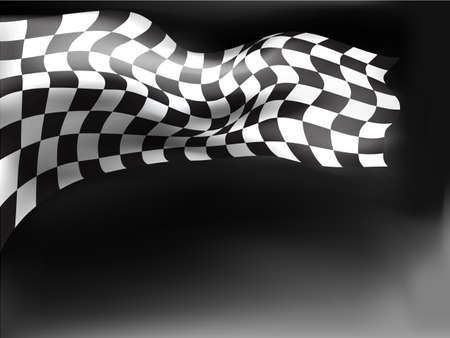checker flag: race flag  background vector illustration Illustration
