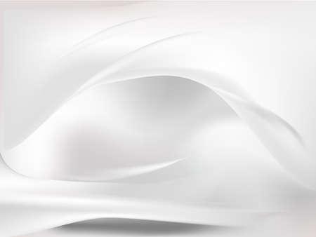 원활한: 흰색 실크 원활한 흐름 배경 벡터 일러스트