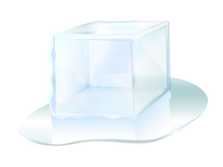 ice brick: ice cube ice block icon vector illustration Illustration