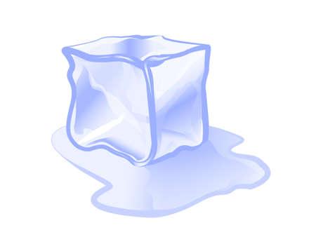 ice cube: ice cube ice block icon vector illustration Illustration