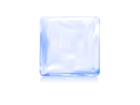 ice block icon vector illustration of frozen block Illustration