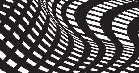 fekete-fehér: pattern black white optical design background vector