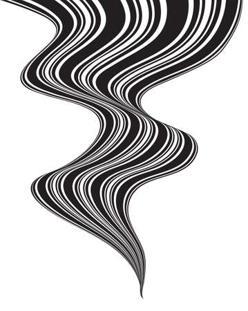 mobius loop: black and white mobious wave stripe optical design Illustration