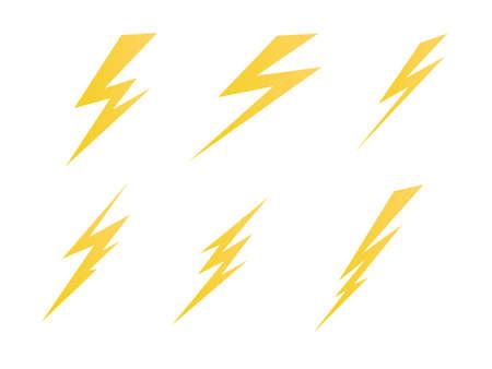 照明、電気充電アイコン ベクトル シンボル図