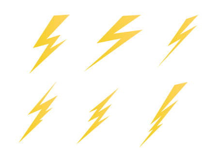 lighting, electric charge icon vector symbol illustration  イラスト・ベクター素材