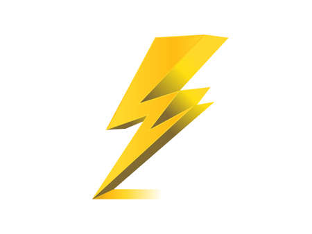 lighting, electric charge icon vector symbol illustration Vettoriali