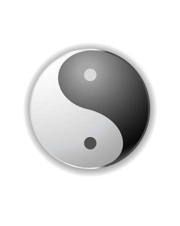 karma design: yin yang symbol vector icon symbol Illustration