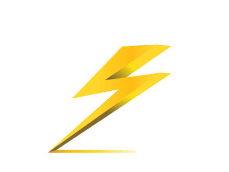 charge: thunder electric charge symbol icon vector