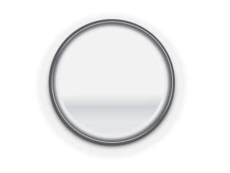 blank button: metal blank button frame vector design elemet