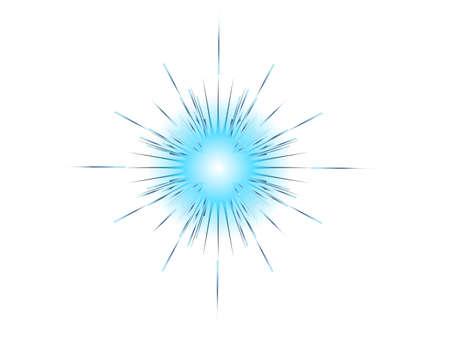 blue explosion on white background vector illustration  イラスト・ベクター素材