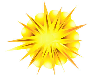 implosion: explosion, blast  symbol element vector illustration