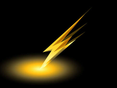 thunder storm: thunder electric charge symbol icon vector