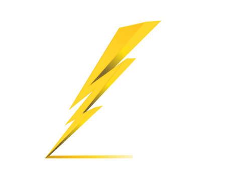 truenos carga eléctrica símbolo del icono del vector Vectores