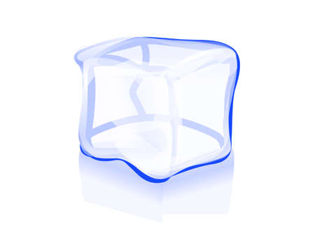 ice brick: ice cube icon vector symbol illustration