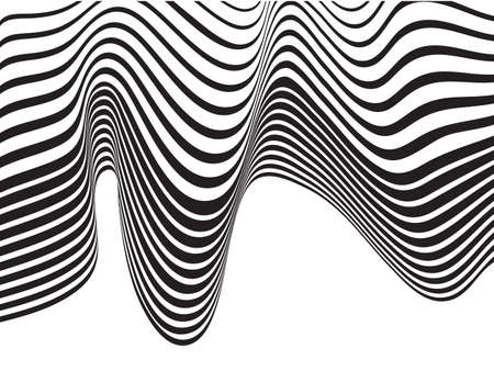 trickery: optical art background wave design black and white