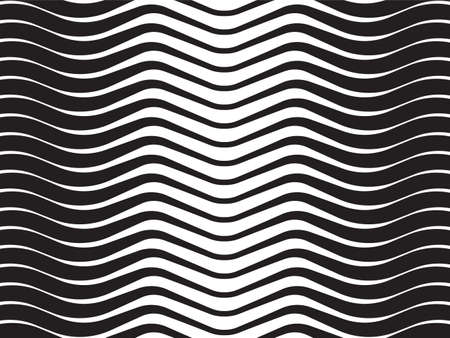 mobius strip: optical wave  abstract striped background black and white