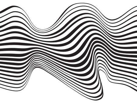 tunnel vision: optical art background wave design black and white