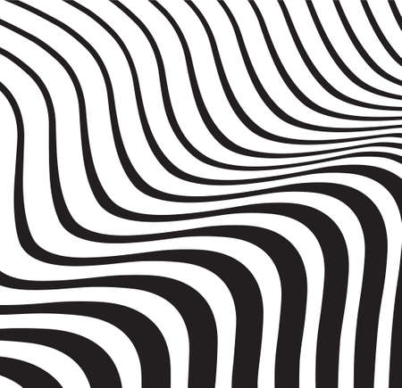 optical wave  abstract striped background black and white