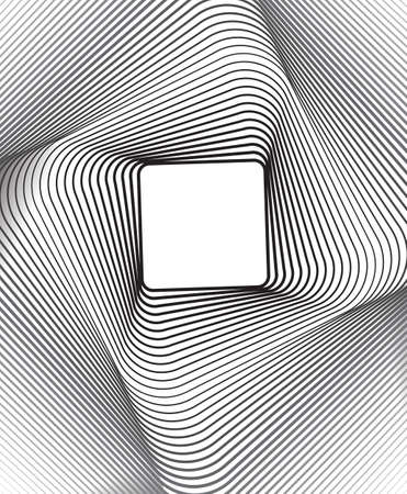 arte optico: plaza arte óptico fondo blanco y negro