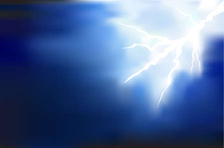 the dazzle: thunder lighting background on dark vector illustration Illustration
