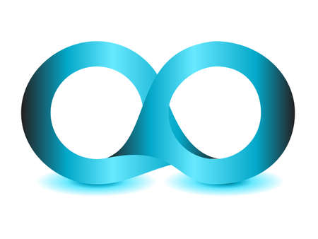 mobius strip: infinity symbol unlimited sign vector icon Illustration