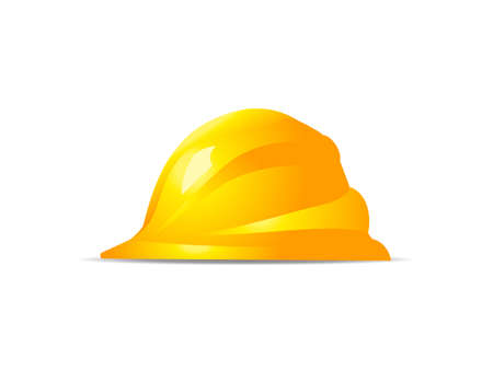 hard hat icon: yellow hard hat safety symbol vector icon