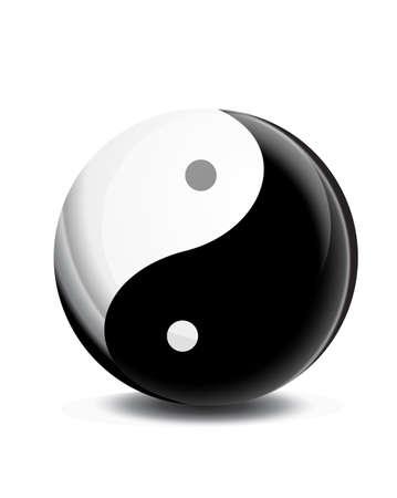 taoist: yin yang symbol vector icon symbol Illustration