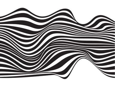 optical art background wave design black and white
