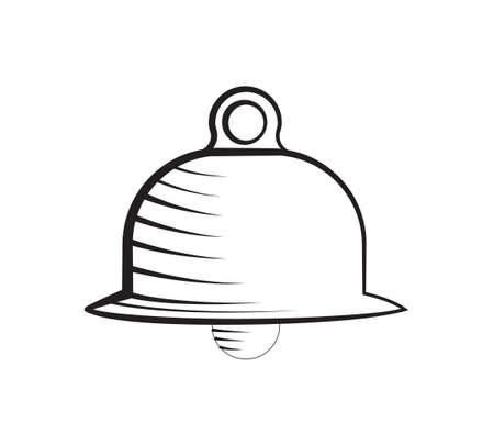 intruder: alarm bell symbol icon isolated vector warning Illustration