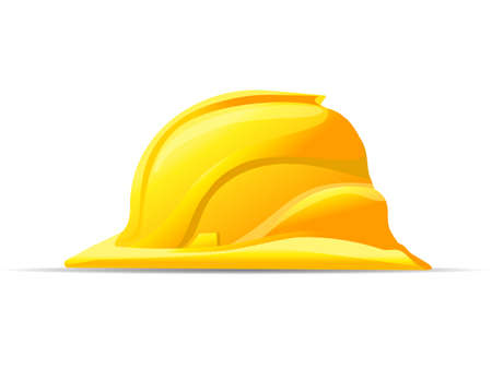 yellow hard hat: yellow hard hat safety symbol vector icon