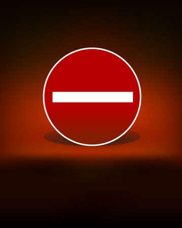 stop sign black dark background vector