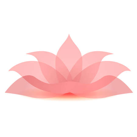 illustration of lotus flower icon sign symbol