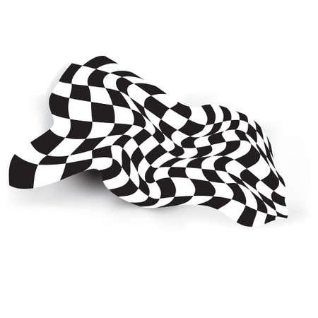 checker flag: race flag waveing vector background layout design Illustration