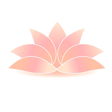 illustration of lotus flower icon sign symbol