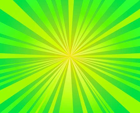 the light rays: green burst,  starburst rays background vector design Illustration