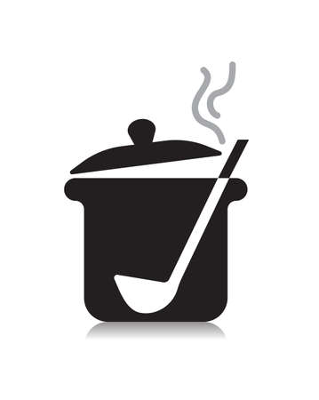 cooking pan symbol icon design element vector Illustration