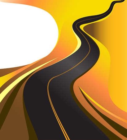 schlagbaum: kurvenreiche Straße Autobahn Hintergrund Vektor-Illustration Illustration