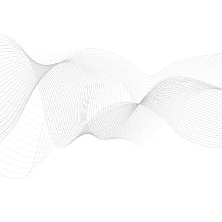 curved lines: curved lines background white and grey vector Illustration