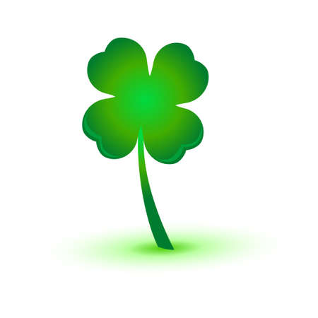 four leaf: four leaf clover green  vector symbol icon