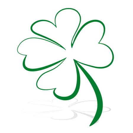 four leaf clover green  vector symbol icon 免版税图像 - 42411471