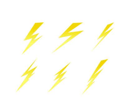 thunde ボルト セット ベクトルの記号要素  イラスト・ベクター素材