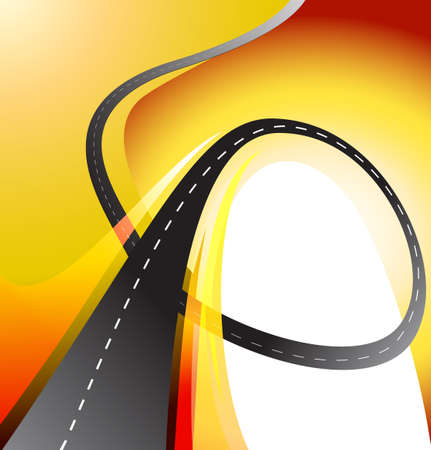 time lapse: winding road highway background vector illustration Illustration