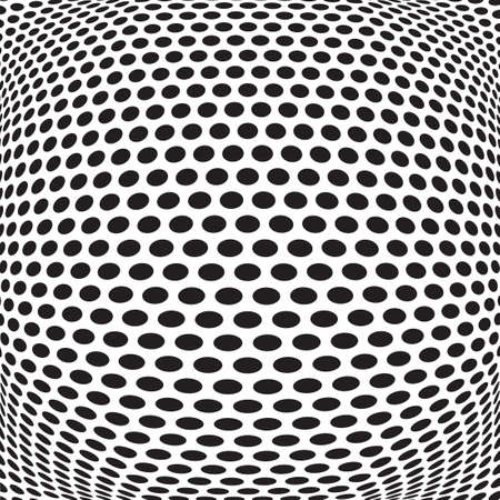 op: abstract dots optical art op art background