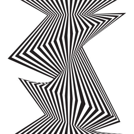 black and white mobious wave stripe optical design Illustration