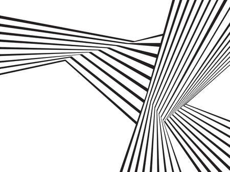 grafik: Schwarz-Weiß-Streifen-optische Wellen Mobious abstrakten Design Illustration