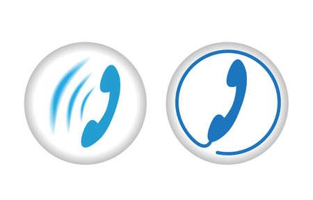 vector symbol: ringing phone vector symbol icon sign