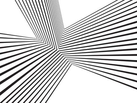 zwart en wit Mobious golf streep optische abstract ontwerp Stock Illustratie