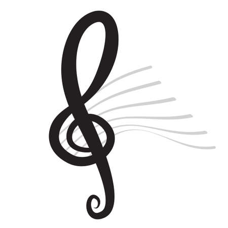 Violin Key Sign Vector Music Symbol Black Royalty Free Cliparts
