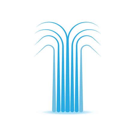 water fountain vector symbol icon illustration