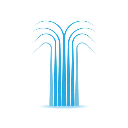 fountains: water fountain vector symbol icon illustration